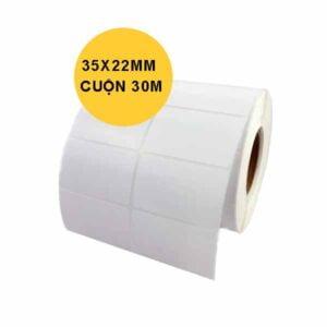 giấy in tem 2 tem 35x22x30m 2400 tem